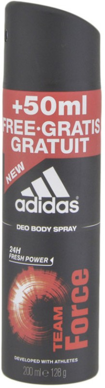 ADIDAS Team Force - 24h Fresh Power + 50 ml Free.Gratis Gratuit Deodorant Spray - For Men(200 ml)