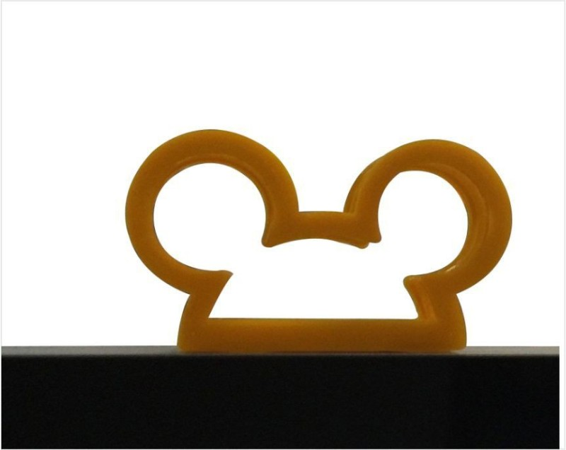 3idea 1 Compartments Plastic Micky Design Business Card Holder/Paper Stand 3D Printed(Yellow)