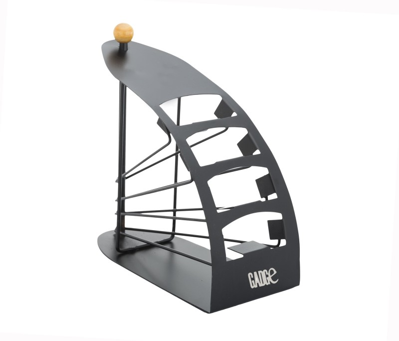 Gadge 4 Compartments Iron Organizers(Black)