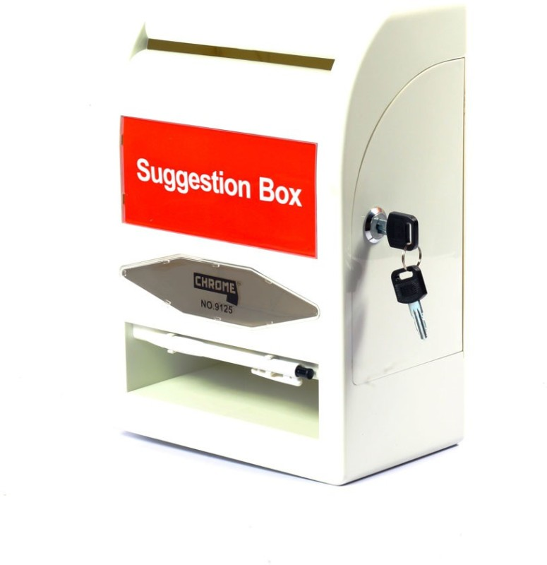 Chrome 1 Compartments Plastic Suggestion Box(Multicolor)