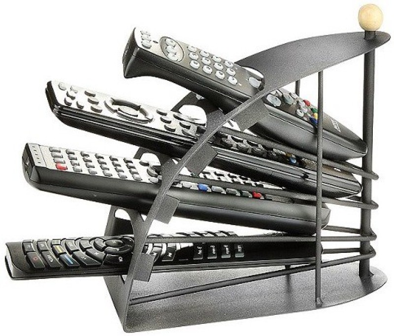 BonZeal 4 Compartments Metal Remote Organizer(Black)