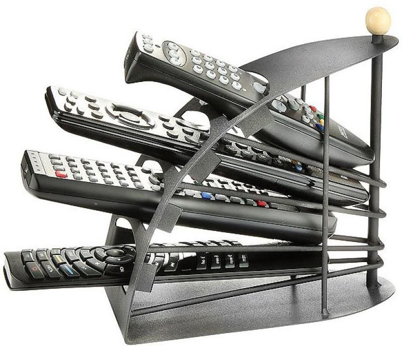 Divinext E-111 4 Compartments Metal Remote Holder(Black)