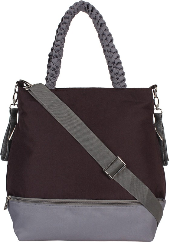 Anekaant Mumsy Shoulder Diaper Bag(Brown, Grey)