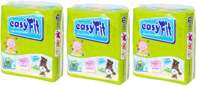 Easy Fit Disposable Baby Diapers - M(3 Pieces)