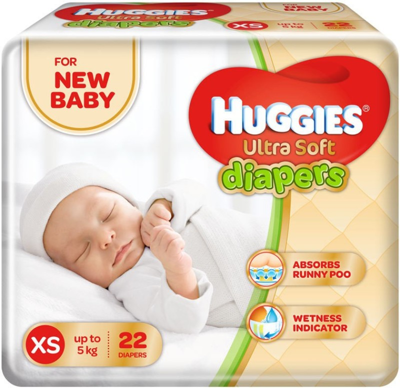 Huggies Ultra Soft Diaper - XS(44 Pieces)