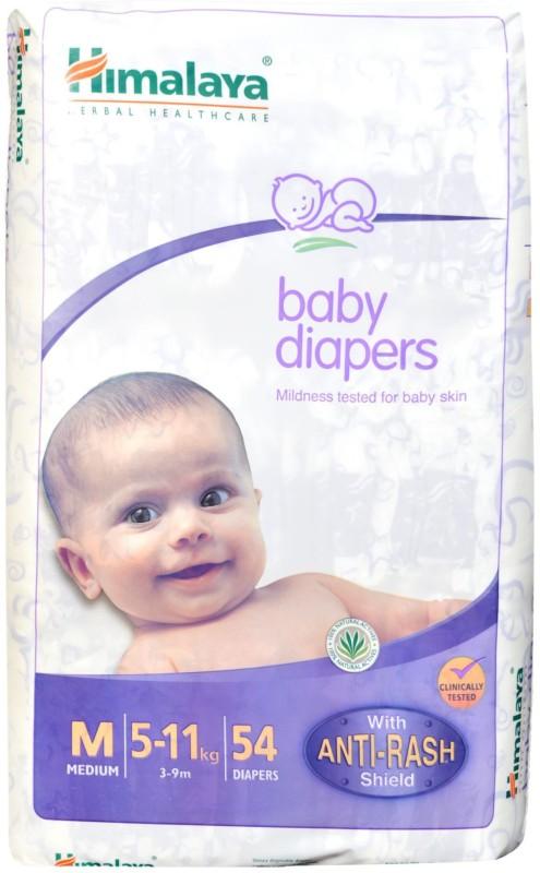 Himalaya Anti Rash Baby Diapers - M(54 Pieces)