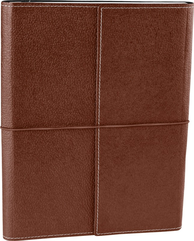 Eco-Leatherette Handcrafted B5 Journal Ruled 144 Pages(Dark Brown)