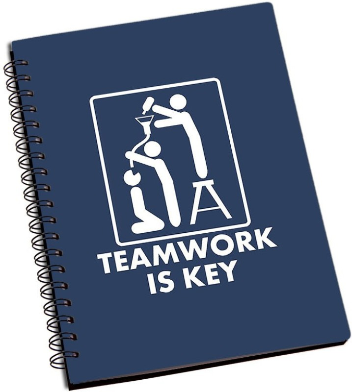 Rangeele Inkers TeamWork Is key A5 Notebook 200 Pages(Multicolor)