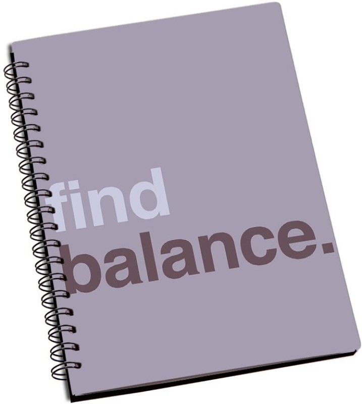 Rangeele Inkers Find balance A5 Notebook 200 Pages(Multicolor)