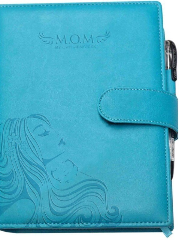 Tiara Diaries Pregnancy Journal cum planner & record book A5 Journal 140 Pages(Baby Blue)