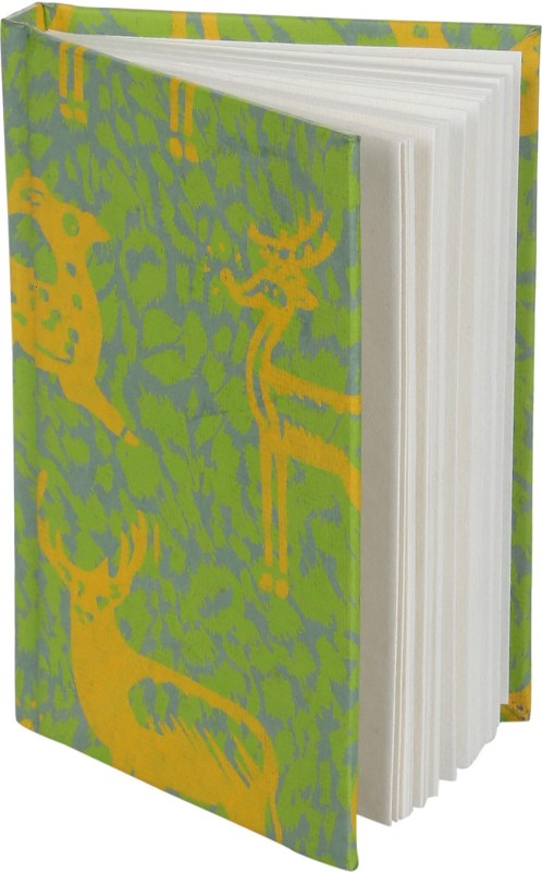 Rajrang Recycled Handmade C6 Notebook 100 Pages(Green, Yellow)