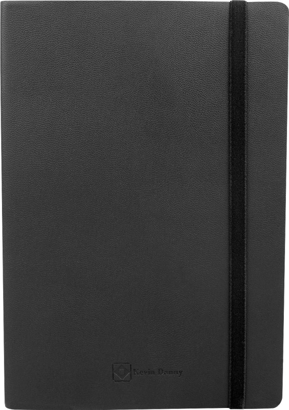 Kevin Danny Leatherette Collection A5 Journal 192 Pages(Black)