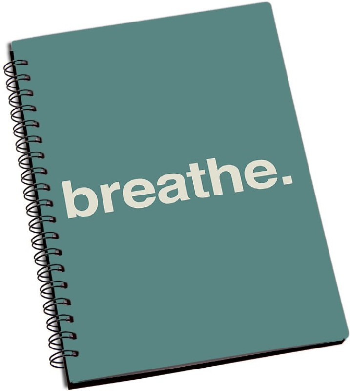 Rangeele Inkers Breathe Word A5 Notebook 200 Pages(Multicolor)