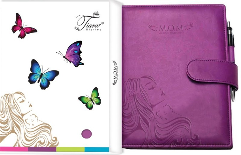Tiara Diaries Pregnancy Journal & Baby Journalcum planner & record book A5 Journal 410 Pages(Purple)