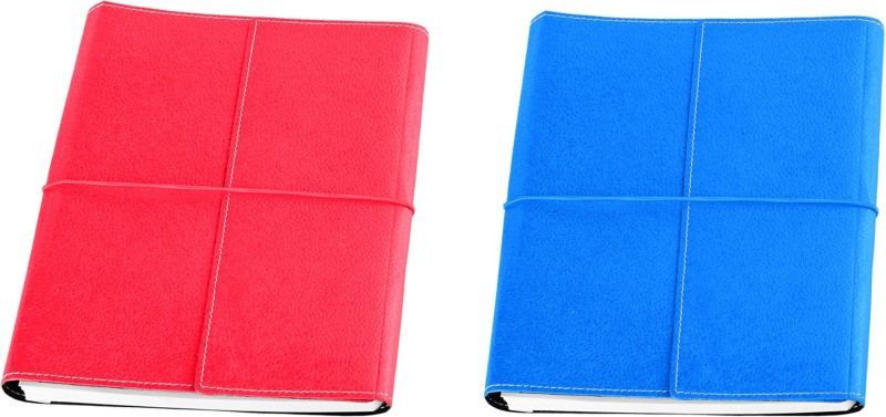 Eco-Leatherette Combo B5 Notebook 192 Pages(Turquoise, Dark Pink, Pack of 2)