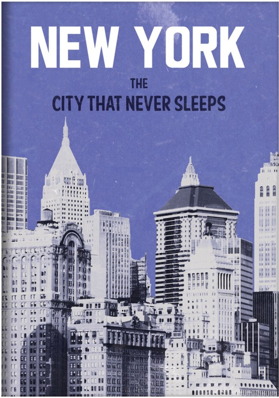 Letts Retro - Newyork A5 Notebook 224 Pages