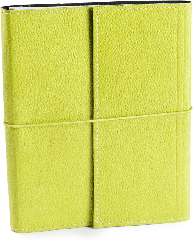 Eco-Leatherette Handcrafted A5 Journal Ruled 144 Pages(Lime Green)