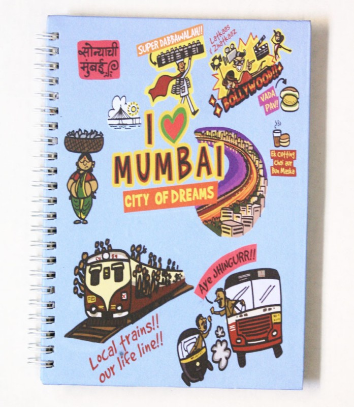 Eco Corner Small Mumbai Ruled Exercise A4 Notebook 192 Pages(Blue)