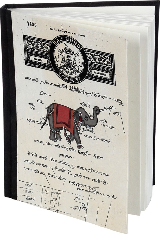 Rajrang Recycled Handmade Regular Notebook 88 Pages(White, Black)