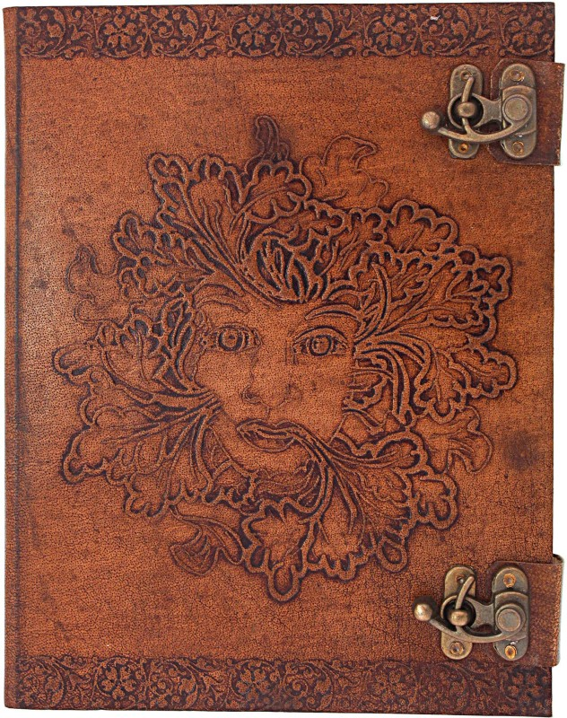Craft Play Regular Notebook(Face Embossing with 2 Lock, Tan)