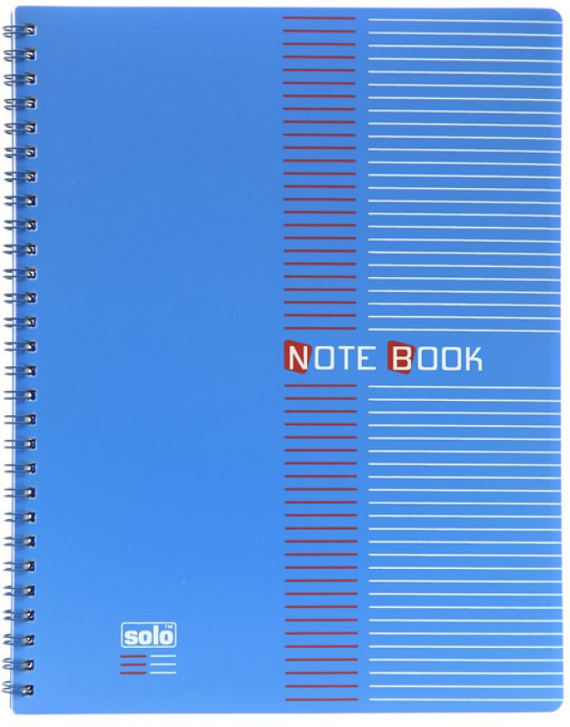 Solo Management (Set of 4) B5 Notebook 100 Pages(Blue)