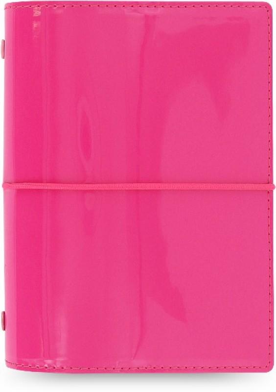 Filofax Domino Patent Pocket-size Organizer 100 Pages(Pink)