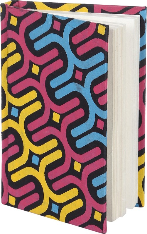 Rajrang Recycled Handmade C6 Notebook 100 Pages(Multicolor)