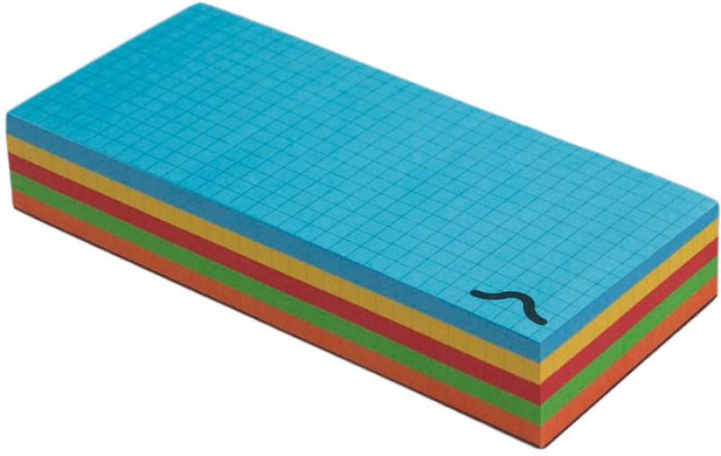 Rubberband Pocket-size Memo Pad(Block, Multicolor)