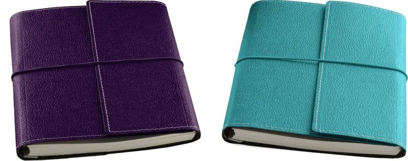 Eco-Leatherette Combo A5 Notebook 192 Pages(Green, Wine, Pack of 2)