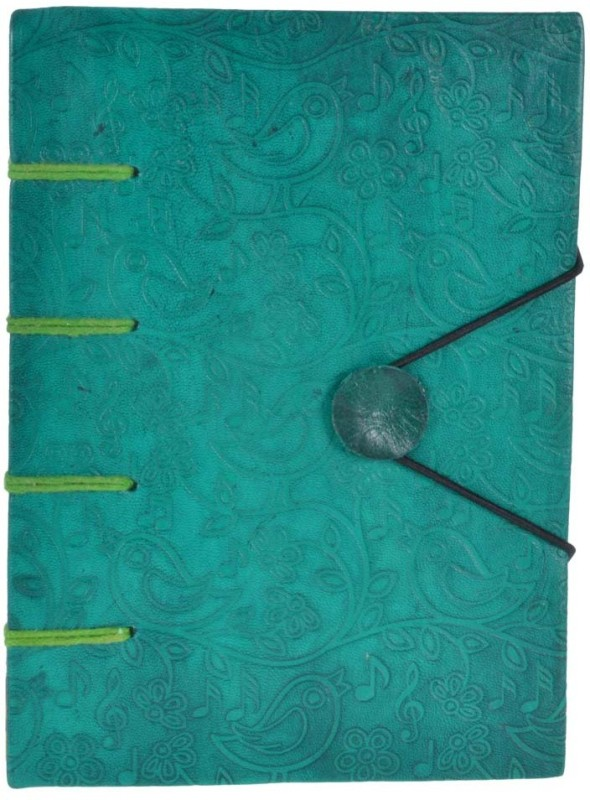Craft Play Regular Notebook(Leather Emboss Special Binding, Green)