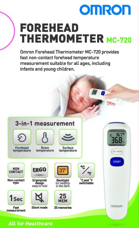 OMRON MC-720 Bath Thermometer(White)