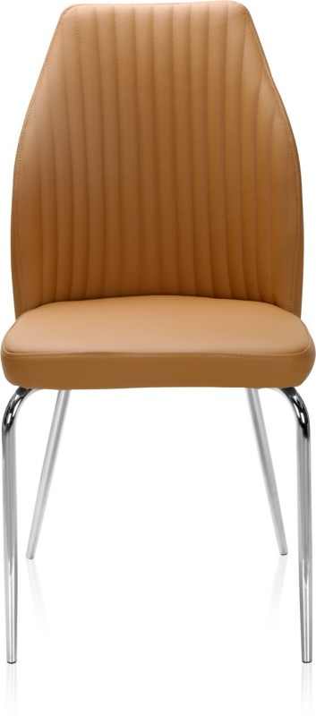 @home by Nilkamal Duro Metal Dining Chair(Set of 1, Finish Color - Beige)