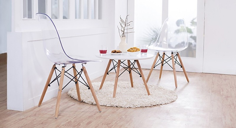 Urban Ladder DSW Plastic Dining Chair(Set of 1, Finish Color - Natural)