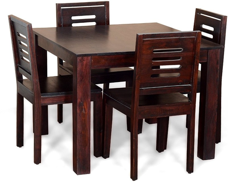 The Attic Solid Wood 4 Seater Dining Set(Finish Color - Mahogany)