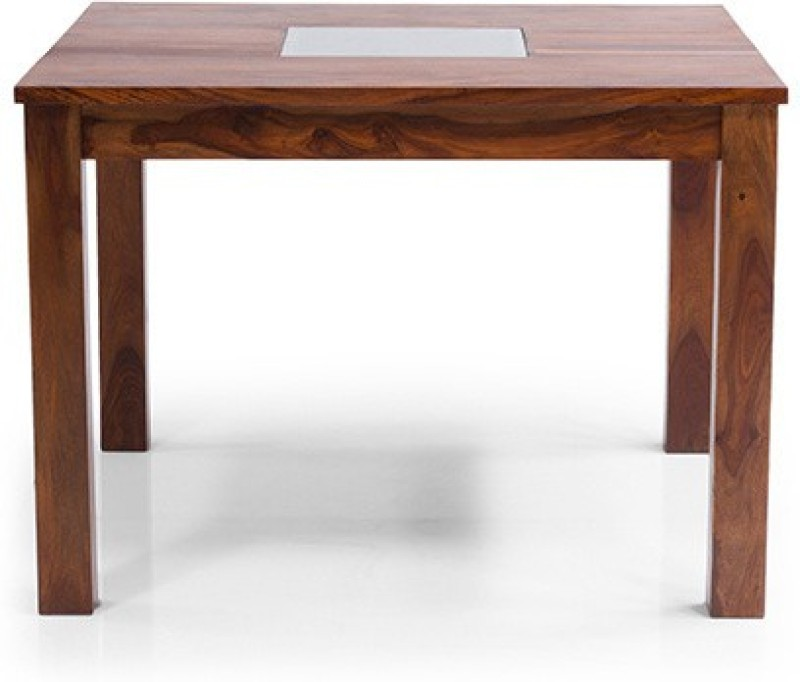 Urban Ladder Brighton Solid Wood 4 Seater Dining Table(Finish Color - Teak)