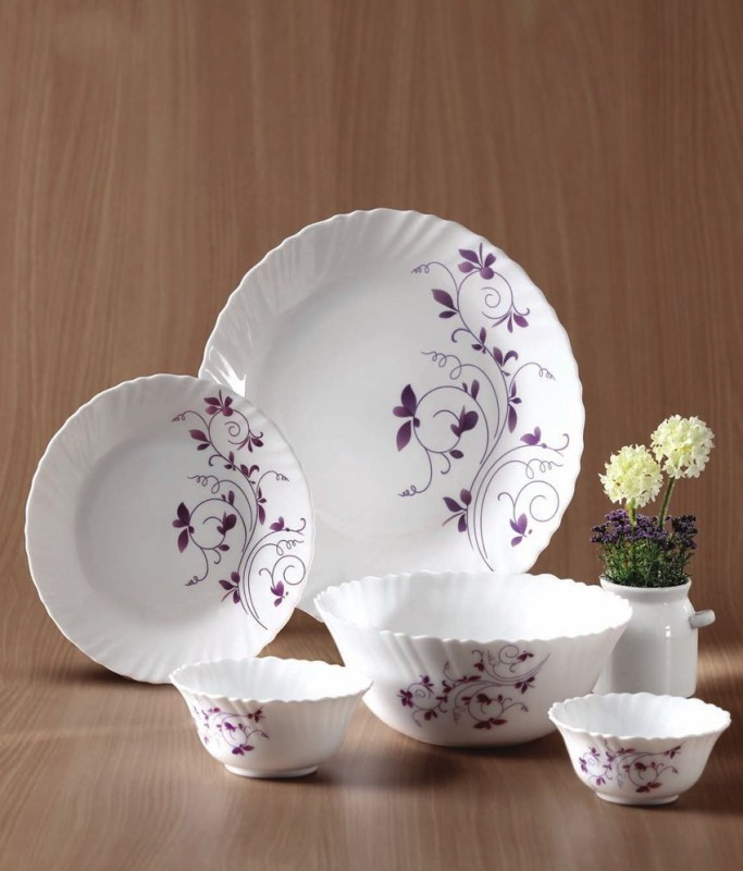 Laopala Dazzle Purple Pack of 13 Dinner Set(Ceramic)