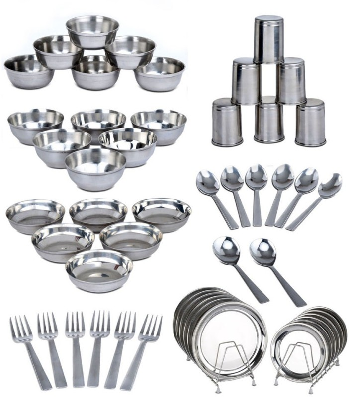 King Villa Family Pack of 50 Dinner Set(Stainless Steel)