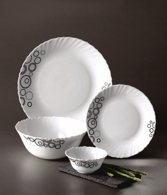 Laopala Diva Mysty Drops Pack of 13 Dinner Set(Bone China)