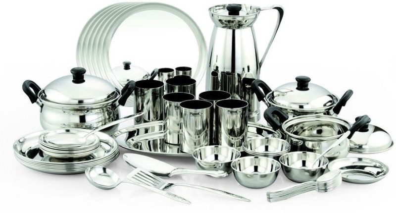 Pigeon Lunch Sparkle Pack of 51 Dinner Set(Stainless Steel)
