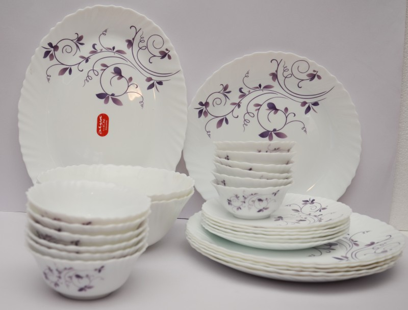 Laopala Dazzle Purple Pack of 27 Dinner Set(Ceramic)
