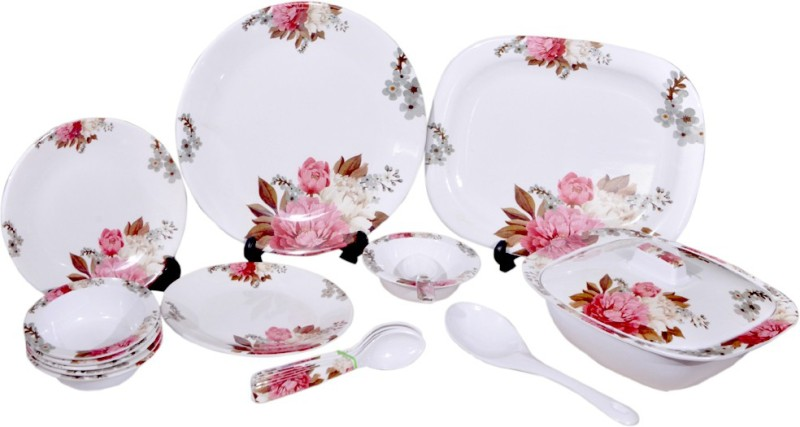 Lumineck Awesome Pack of 40 Dinner Set(Melamine)