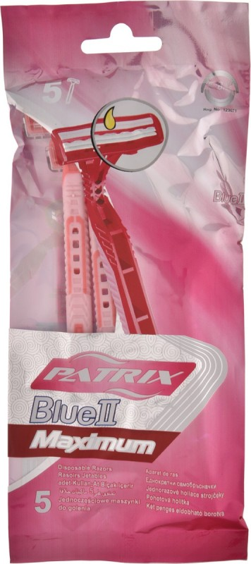 Patrix Blue 2 Maximum Disposable Razor(Pack of 5)