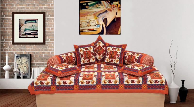 Jaipur Print Cotton Floral Diwan Set