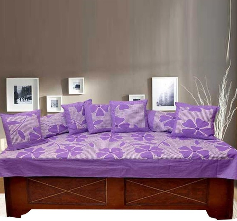 Kdecor Cotton Floral Diwan Set