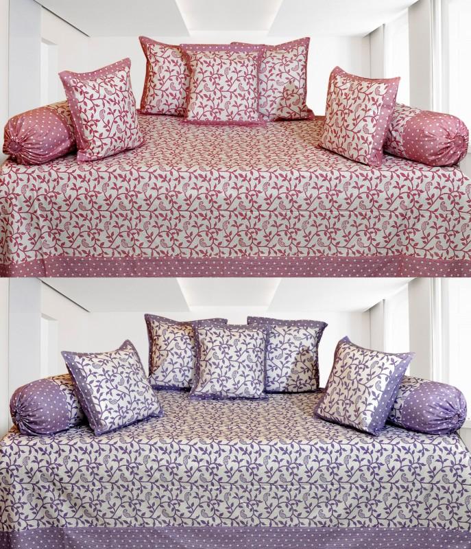Click Shoppe Cotton Floral Diwan Set