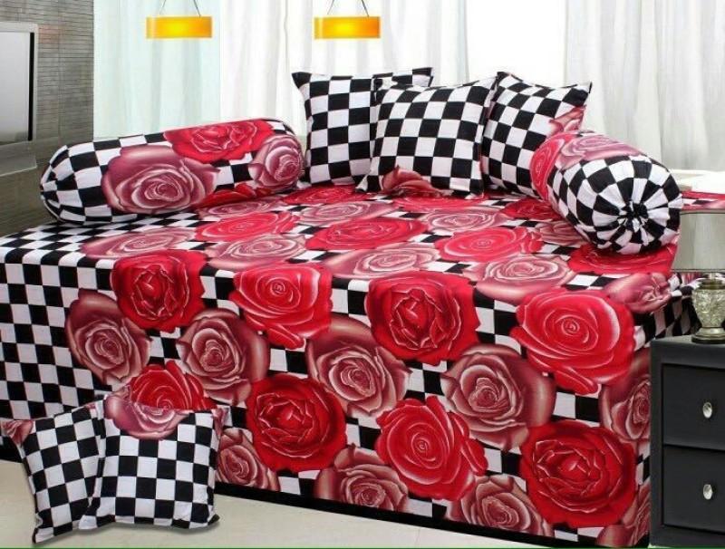 ATOZ Home Decor Cotton Floral Diwan Set