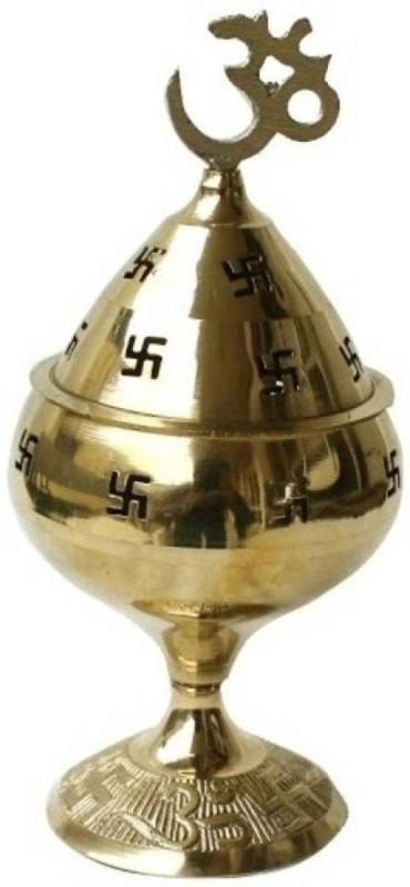 MNA Akhand Diya Brass Table Diya(Height: 5.52 inch)