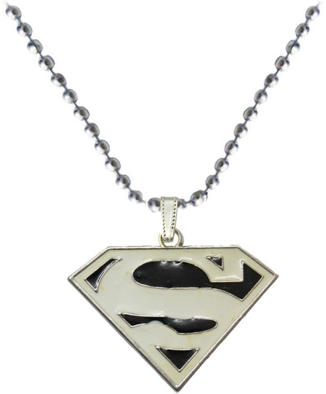 Rich & Famous Superman Inspired Fashion Engraved Black, White Dog Tag