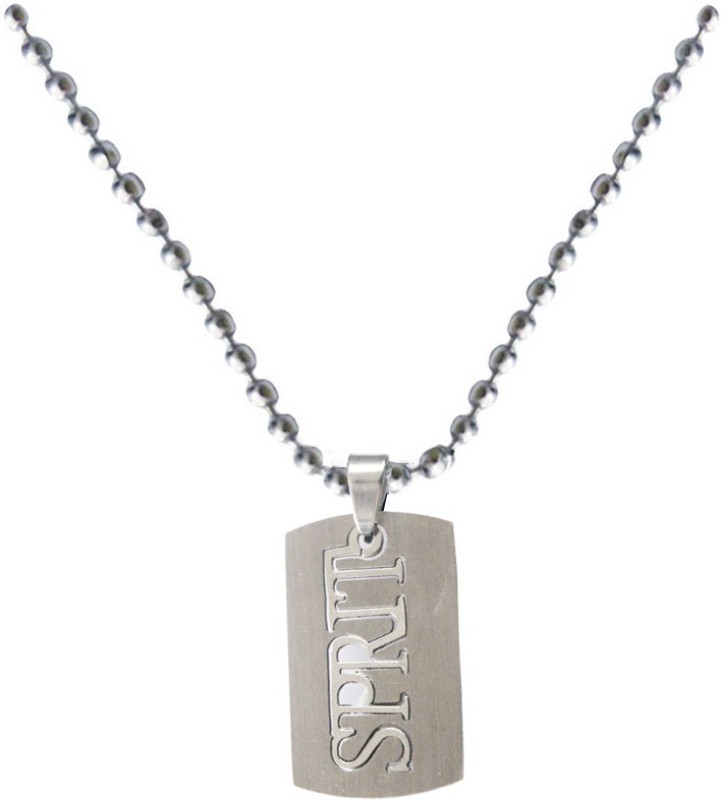Rich & Famous Elegant Spirit Fashion MKPn07031 Plain Silver Dog Tag