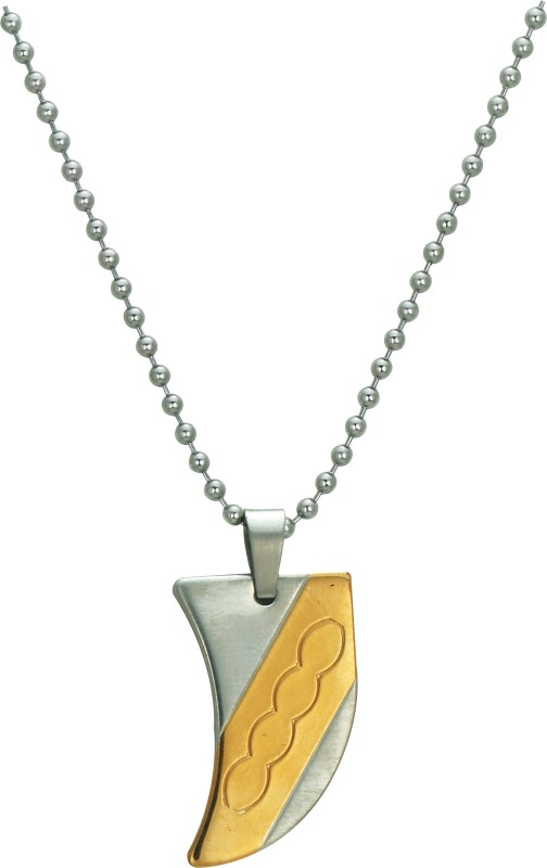 Pure Life Gold Plated Pendant Embossed Gold Dog Tag